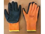 Перчатки рабочие из акрила с ворсом (УТЕПЛЕННЫЕ) облитые рифленным слоем латекса - ПЕРЧАТКИ СТЕКОЛЬЩИКА