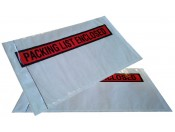 Самоклеящийся пакет-карман 165*240 мм с красным знаком Documents Enclosed